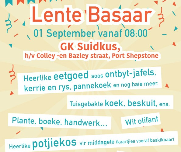 GK Suidkus Basaar Sept 2018 Advertensie